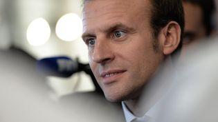Emmanuel Macron, à Besançon (Doubs), le 27 septembre 2016. (FREDERICK FLORIN / AFP)