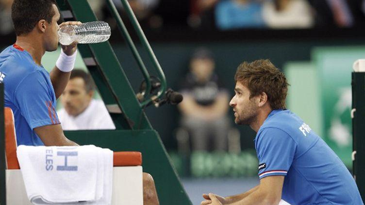 Arnaud Clément conseille Jo-Wilfried Tsonga en tant que capitaine de l'équipe de France