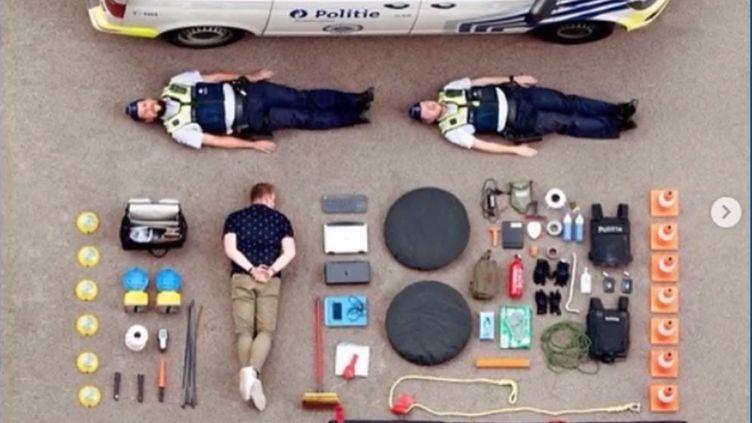 La police belge s'est elle aussi lancée dans le #TetrisChallenge. (FRANCEINFO)