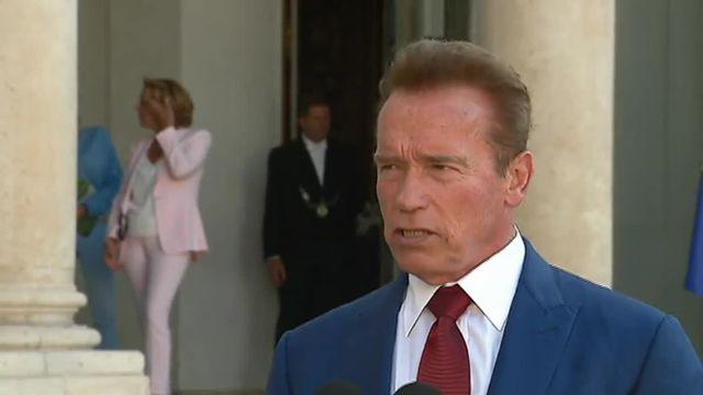 Schwarzenegger à l'Elysée plaide pour un avenir vert et propre pour nos enfants