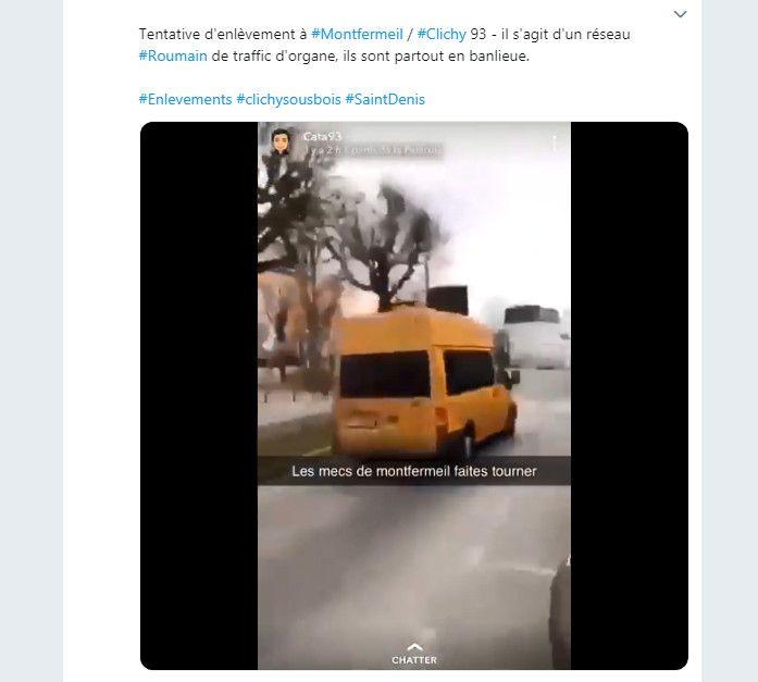 Capture d'écran d'un tweet relayant la rumeur. (TWITTER)