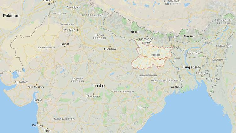 Une vuede l'Etat du Bihar, dans le nord-est de l'Inde. (GOOGLE MAPS)