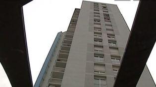Capture d'écran, le 26 mai 2014, de l'immeuble de la cité Soubise où a eu lieu l'accident, à Saint-Ouen (Seine-Saint-Denis). ( FRANCE 3 ILE-DE-FRANCE / FRANCETV INFO)