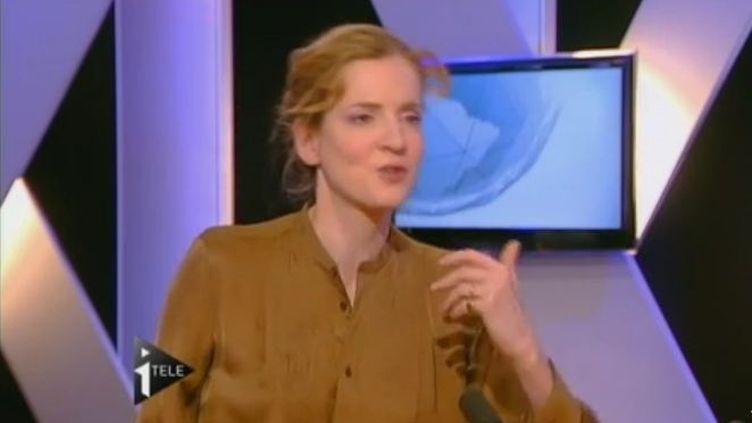 Nathalie Kosciusko-Morizet,la ministre de l'Ecologie, le 27 janvier 2012, sur i-Télé. (FTVi / i-TELE)