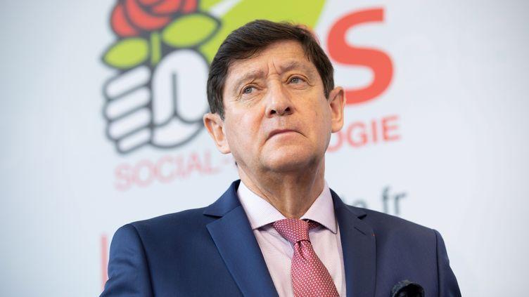 Patrick Kanner,président du groupe socialiste au Sénat,lors d'une conference de presse au siège du Parti socialiste à Ivry-sur-Seine, le 17 juin 2019. (CHRISTOPHE MORIN / MAXPPP)