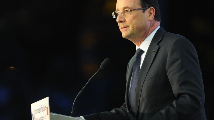 Le président de la République, François Hollande, en visite officielle à Shanghaï (Chine), le 26 avril 2013. (NICOLAS GOUHIER / POOL)