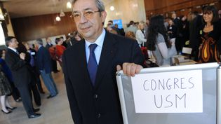 Gilbert Azibert, en 2008, lors du congrès annuel de l'Union syndicale des magistrats. (THIERRY ZOCCOLAN / AFP)