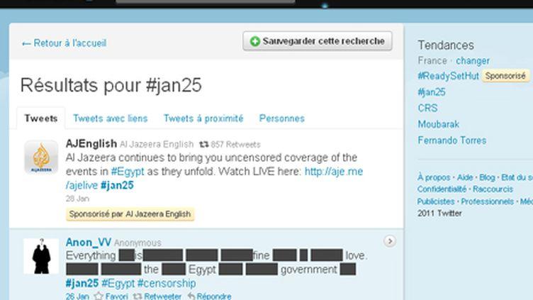 twitter -Egypte - 25 janvier