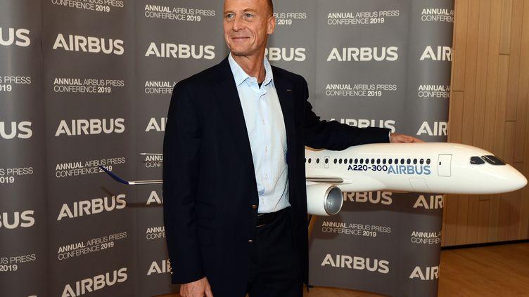 Le président exécutif d'Airbus, Tom Enders, à Blagnac, le 14 février 2019. (REMY GABALDA / AFP)