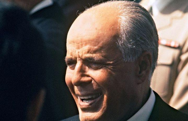 Le président Habib Bourguiba le 15 novembre 1974 à Paris. (AFP - Pierre Guillaud)