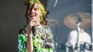 La chanteuse américaine Billie Eilish sur scène au festival de Reading (Grande-Bretagne) le 24 août 2019. (OLLY STABLER/REX/SIPA / SHUTTERSTOCK)