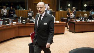Le ministre de l'Intérieur, Bernard Cazeneuve, à Bruxelles (Belgique), lundi 9 novembre 2015. (WIKTOR DABKOWSKI / WIKTOR DABKOWSKI)