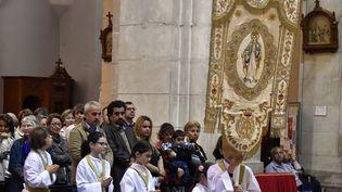 Une messe en l'honneur de la Vierge Marie, le 3 mai 2015, à Lourdes. (PASCAL PAVANI / AFP)