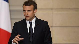 Le président de la République Emmanuel Macron, à l'Elysée, le 12 juin 2017. (LIONEL BONAVENTURE / AFP)