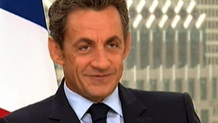 Nicolas Sarkozy lors de son interview à New-York, avant le G20 de Pittsburg des 24 et 25 septembre 2009 (© France 2)