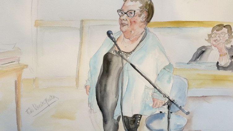Dominique Cottrez au premier jour de son procès, le 25 juin 2015, à Douai (Nord). (ELISABETH POURQUERY / FRANCETV INFO)