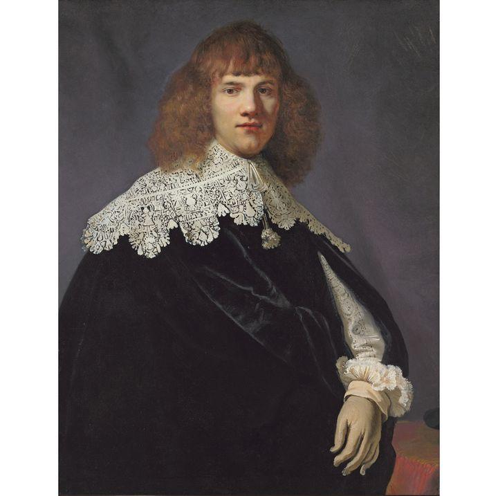 """Ce """"Portrait d'un jeune homme"""" de Rembrandt (1606-1669) a été découvert il y a 18 mois par l'expert néerlandais Jan Six.  (photo René Gerritsen / Jan Six Fine Arts)"""