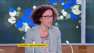 La ministre du Logement, Emmanuelle Wargon, jeudi 2 septembre, sur la chaîne franceinfo. (FRANCEINFO)