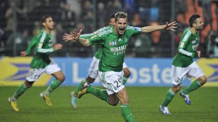 Lyon s'était imposé 2-0 à l'aller face à Saint-Etienne. (THIERRY ZOCCOLAN / AFP)