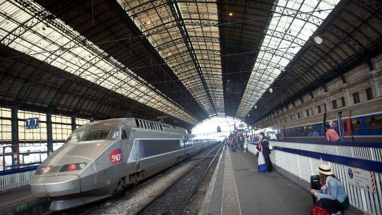 Un TGV en gare de Bordeaux (Gironde), le 9 juillet 2012. La future LGV doit relier la ville à l'Espagne. (LOIC VENANCE / AFP)