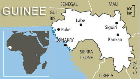 Carte de la Guinée. (FTV)