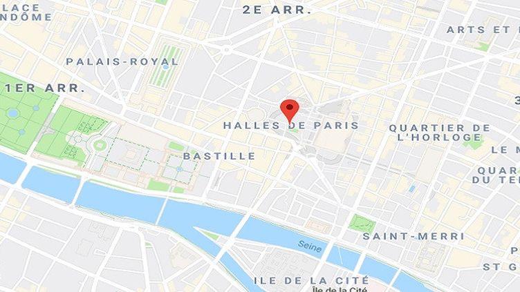 Le quartier des Halles à Paris. (GOOGLE MAPS)