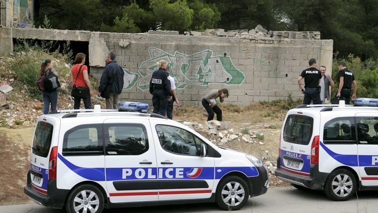 Un corps brûlé a été retrouvé à Septèmes-les-Vallons le 3 septembre 2012. (CYRIL SOLLIER / LA PROVENCE / MAXPPP)