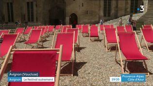 Projections dans la Cour d'honneur (CAPTURE D'ÉCRAN FRANCE 3)