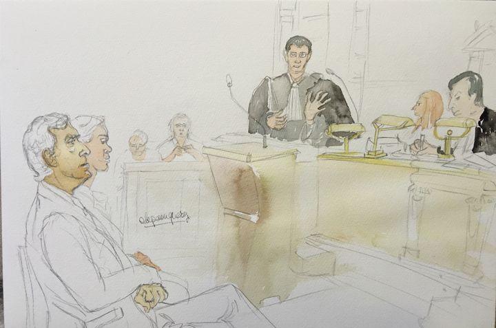 Jean-Marc Toublanc lors de son réquisitoire contre les QPC déposées par les époux Cahuzac, le 8 février 2016 au palais de justice de Paris. (ELISABETH DE POURQUERY / FRANCETV INFO)