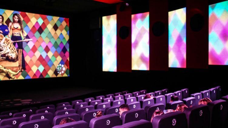 La salle de cinéma CGR de Brignais (Rhône). (ANTOINE MERLET / HANS LUCAS)