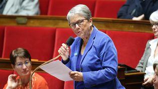 Catherine Coutelle, députée de la Vienne, lors des questions au gouvernement à Paris, le 8 novembre 2016. (MAXPPP)