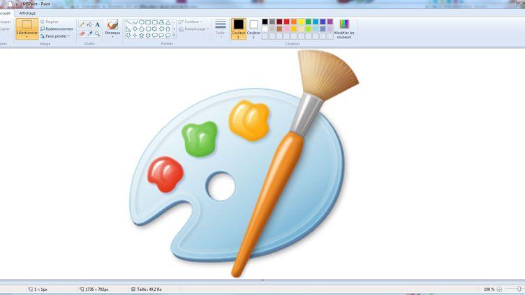 Le logo de l'application Microsoft Paint. (FRANCEINFO)