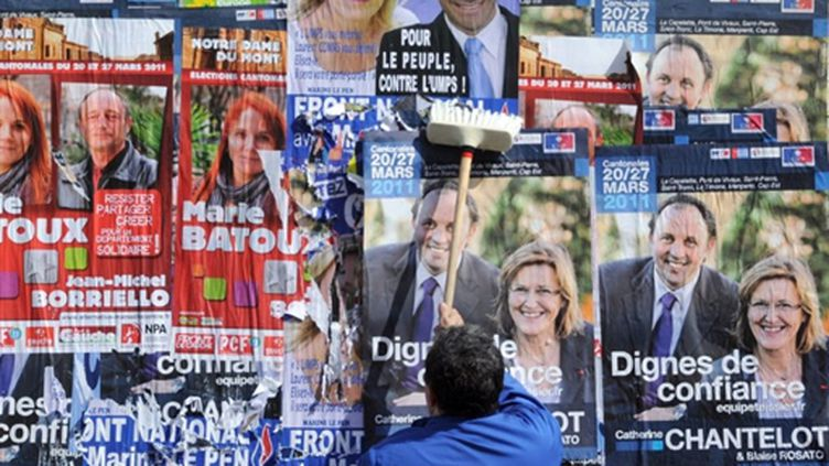 2.023 cantons renouvelés en 2004 et 3 autres (élection partielle), sont concernés par le scrutin des 20 et 27 mars. (AFP - Gérard Julien)