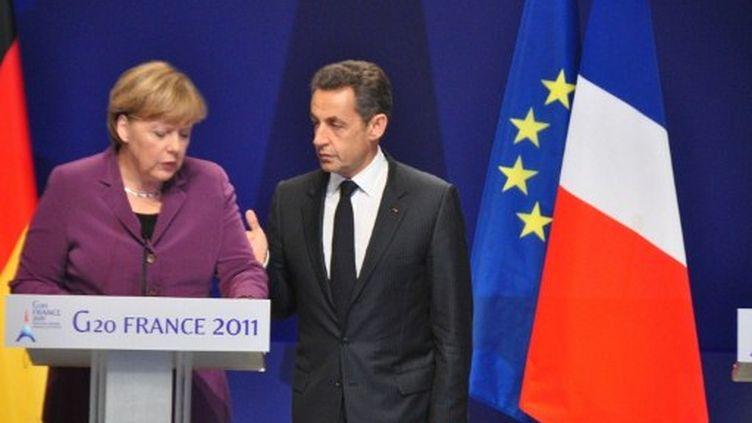 Angela Merkel et Nicolas Sarkozy lors du G20 à Cannes. (citizenside.com)