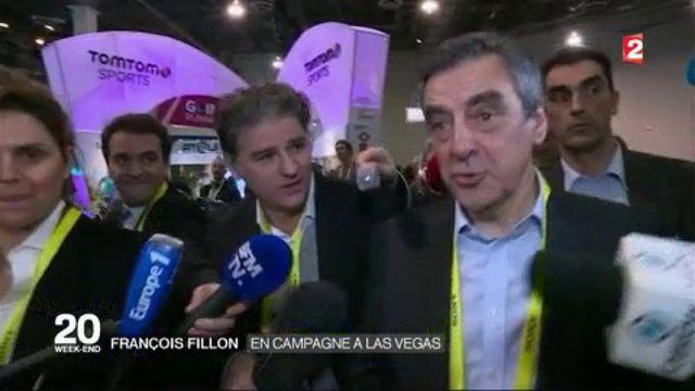 François Fillon : en campagne à Las Vegas