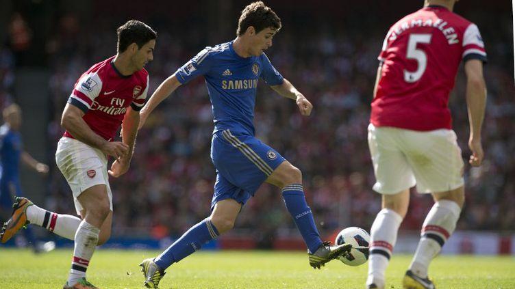 Arsenal a cédé à domicile par Chelsea lors de la 6e journée de Premier League (ADRIAN DENNIS / AFP)
