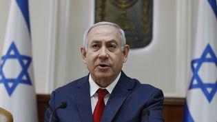 Le Premier ministre israélien,Benyamin Nétanyahou, le 10 février 2019 à Jérusalem. (GALI TIBBON / POOL / AFP)