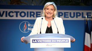 Marine Le Pen à Paris le 26 mai 2019. (BERTRAND GUAY / AFP)