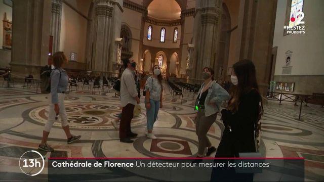 Cathédrale de Florence : un détecteur pour garantir la distanciation entre les visiteurs