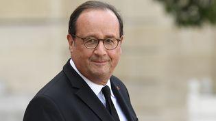 L'ancien président français, François Hollande, au palais de l'Elysée, le 30 septembre 2019. (BERTRAND GUAY / AFP)