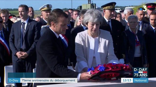 En Normandie, Donald Trump, Theresa May et Emmanuel Macron commémorent le Débarquement