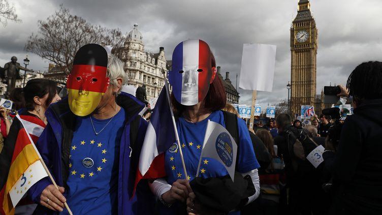 Manifestation anti-Brexit à Londres devant la Chambre des Lords, le 20 février 2017.  (REUTERS)
