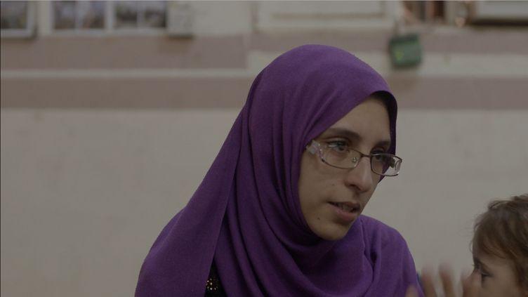 La Française Mélina Boughedir, dans la prison pour femmes de Bagdad, où elle est incarcérée avec sa fille de deux ans. (SALAM SALMAN - PHOTOGRAPHIE EXCLUSIVE FRANCE INTER, TOUTE REPRODUCTION INTERDITE)