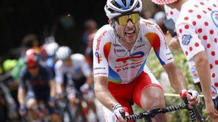 Pierre Latour (Total Energies) est très en vue sur ce 108e Tour de France. (THOMAS SAMSON / AFP)