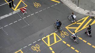Des pistes cyclables à Berlin en janvier 2021 (SEBASTIAN GABSCH/GEISLER-FOTOPRE / GEISLER-FOTOPRESS)