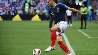 Le défenseur Lucas Hernandez, le 30 juin 2018, lors du huitième de finale victorieux contre l'Argentine. (FRANCK FIFE / AFP)
