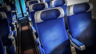 Des trains en partie vides ont circulé ces derniers jours en plein mouvement social à la SNCF. (STEPHANE DE SAKUTIN / AFP)