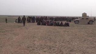 Des jihadistes arrêtés et détenus par l'armée kurde (CAPTURE D'ÉCRAN FRANCE 3)
