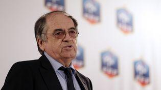Le président de la Fédération française de football,Noël Le Graët, le 29 octobre 2012. (KENZO TRIBOUILLARD / AFP)