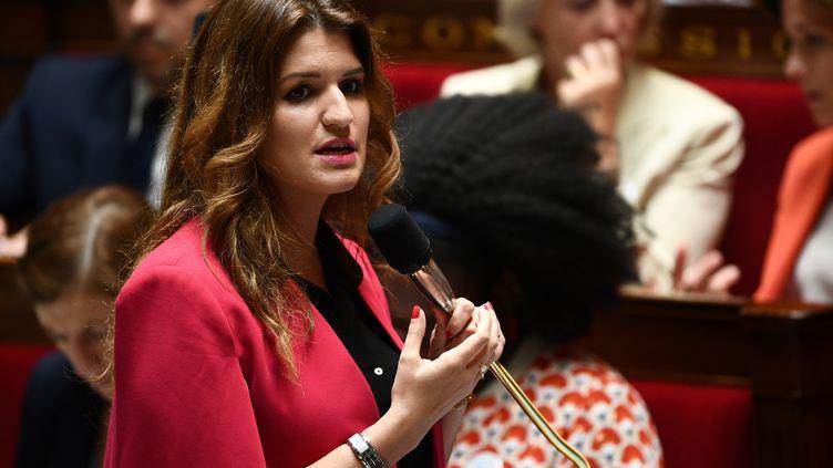 Marlène Schiappa, secrétaire d'Etat à l'égalité entre les femmes et les hommes, à l'Assemblée Nationale, le 9 juillet 2019. (MARTIN BUREAU / AFP)